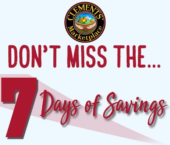 7 Days of Savings